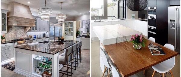 تفاوت جزیره و اپن آشپزخانه