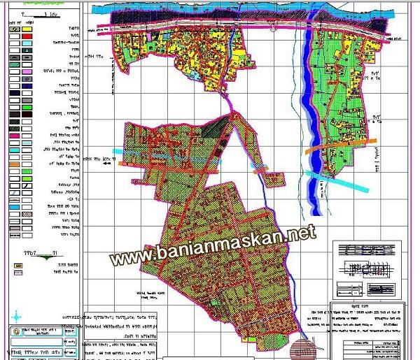 نقشه طرح هادی روستای توسکاتک